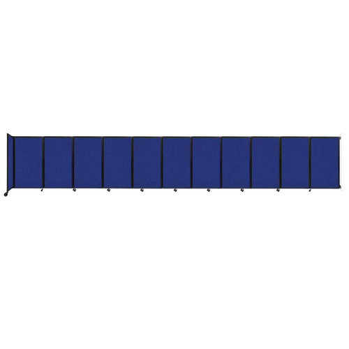 """Wall-Mounted Room Divider 360 Folding Partition 30'6"""" x 5' Royal Blue Fabric"""