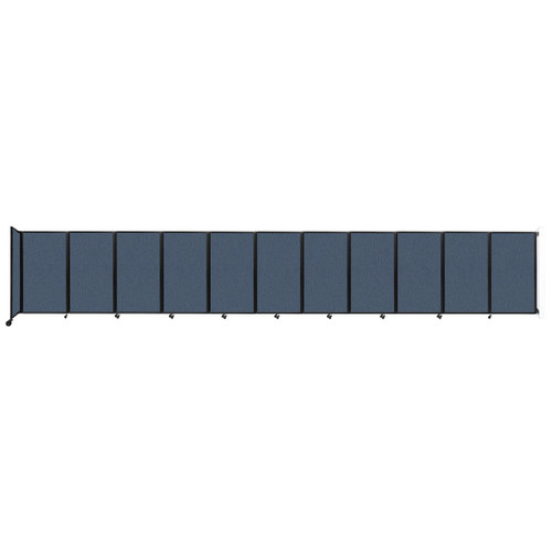 """Wall-Mounted Room Divider 360 Folding Partition 30'6"""" x 5' Ocean Fabric"""