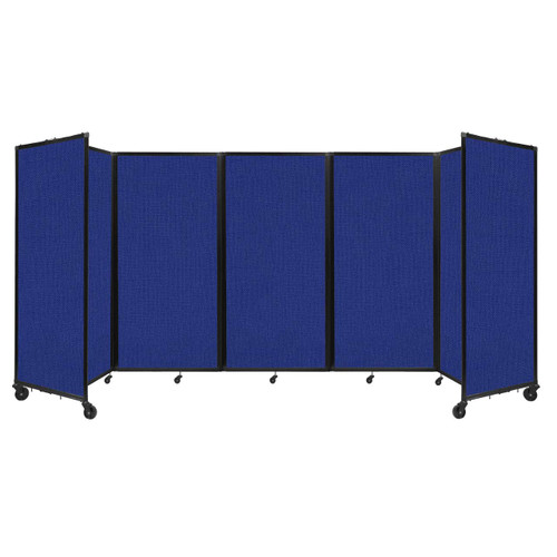 Room Divider 360 Folding Portable Partition 14' x 6' Royal Blue Fabric