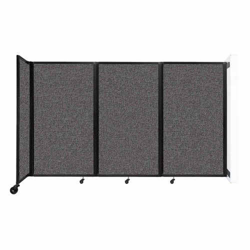 """Wall-Mounted Room Divider 360 Folding Partition 8'6"""" x 5' Charcoal Gray Fabric"""