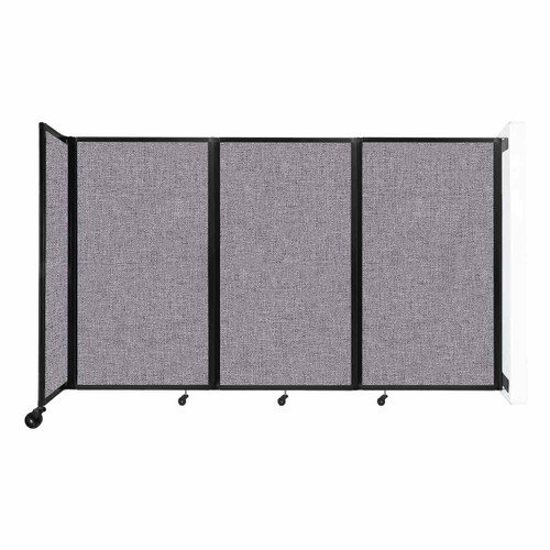 """Wall-Mounted Room Divider 360 Folding Partition 8'6"""" x 5' Cloud Gray Fabric"""
