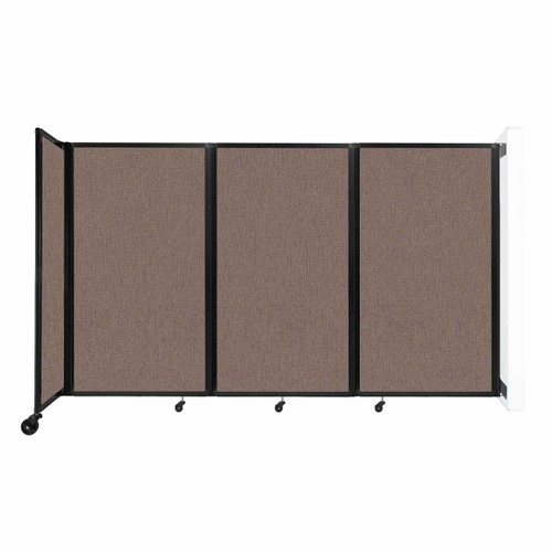 """Wall-Mounted Room Divider 360 Folding Partition 8'6"""" x 5' Latte Fabric"""