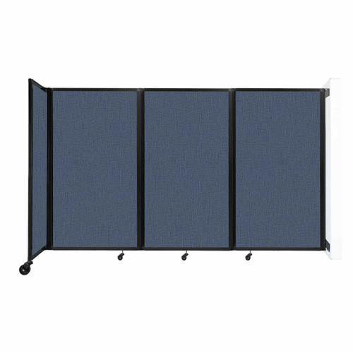 """Wall-Mounted Room Divider 360 Folding Partition 8'6"""" x 5' Ocean Fabric"""