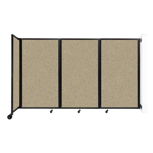 """Wall-Mounted Room Divider 360 Folding Partition 8'6"""" x 5' Rye Fabric"""