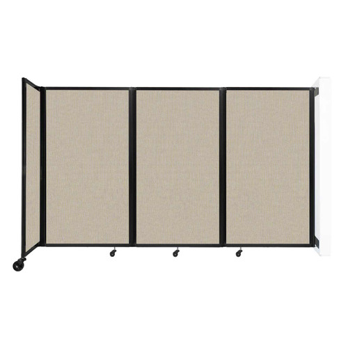 """Wall-Mounted Room Divider 360 Folding Partition 8'6"""" x 5' Sand Fabric"""
