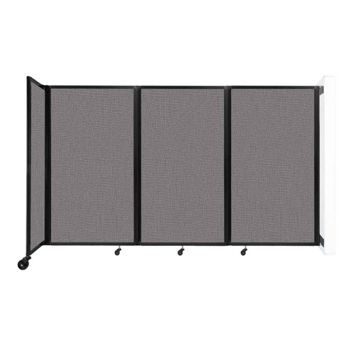 """Wall-Mounted Room Divider 360 Folding Partition 8'6"""" x 5' Slate Fabric"""