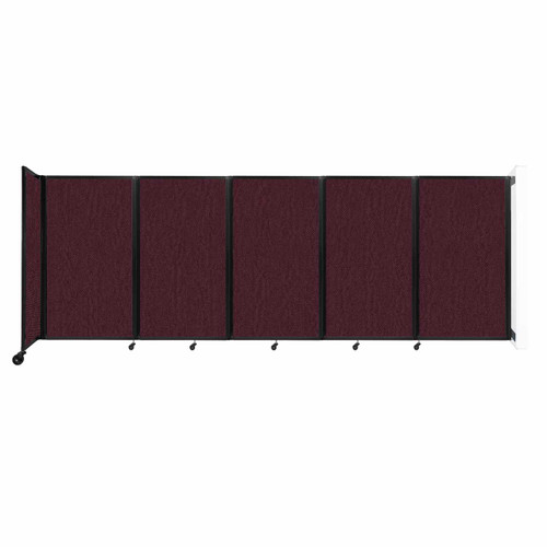Wall-Mounted Room Divider 360 Folding Partition 14' x 5' Cranberry Fabric