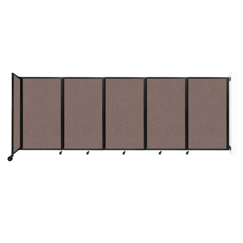 Wall-Mounted Room Divider 360 Folding Partition 14' x 5' Latte Fabric