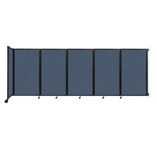 Wall-Mounted Room Divider 360 Folding Partition 14' x 5' Ocean Fabric