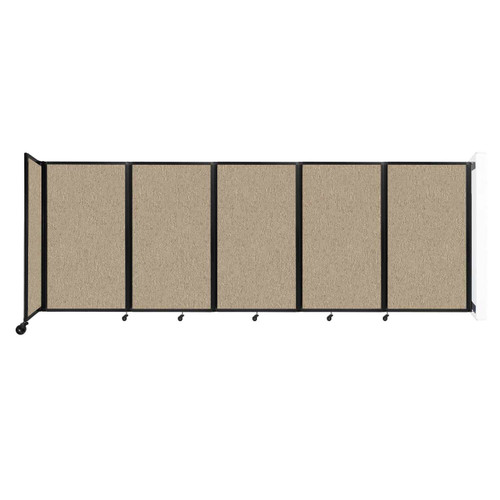 Wall-Mounted Room Divider 360 Folding Partition 14' x 5' Rye Fabric