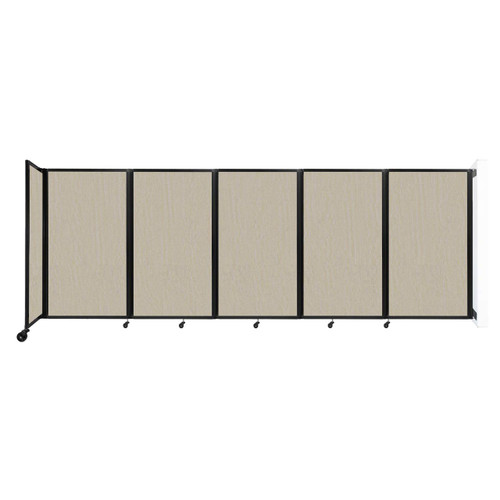 Wall-Mounted Room Divider 360 Folding Partition 14' x 5' Sand Fabric
