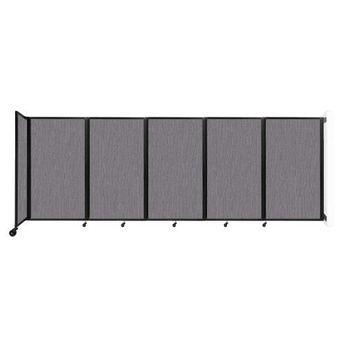 Wall-Mounted Room Divider 360 Folding Partition 14' x 5' Slate Fabric