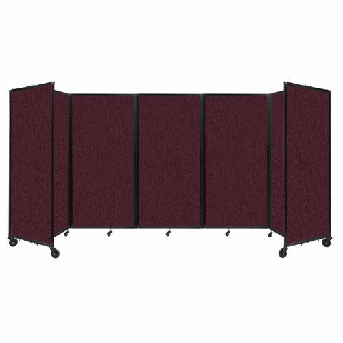 Room Divider 360 Folding Portable Partition 14' x 6' Cranberry Fabric