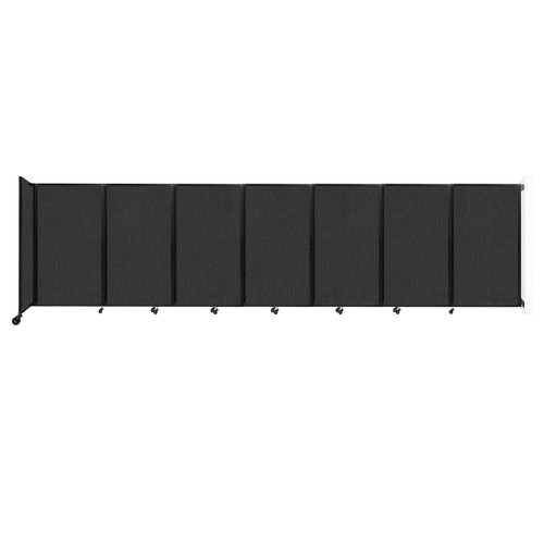 """Wall-Mounted Room Divider 360 Folding Partition 19'6"""" x 5' Black Fabric"""