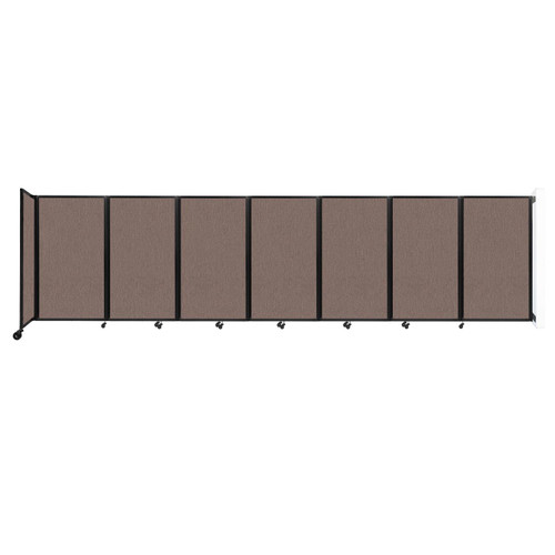 """Wall-Mounted Room Divider 360 Folding Partition 19'6"""" x 5' Latte Fabric"""