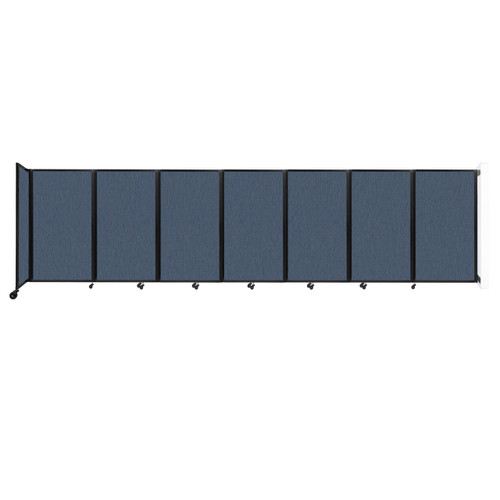 """Wall-Mounted Room Divider 360 Folding Partition 19'6"""" x 5' Ocean Fabric"""