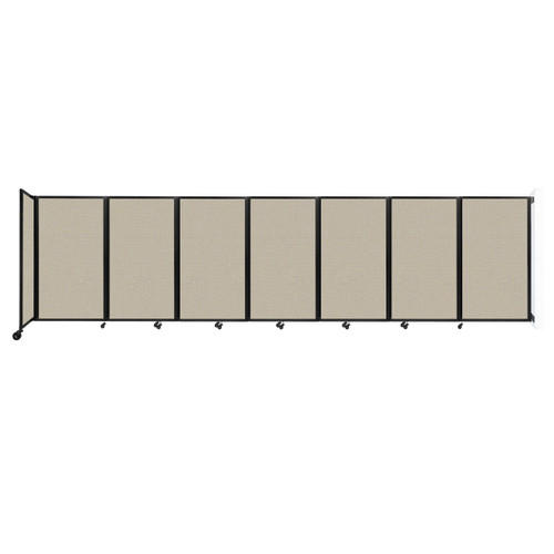 """Wall-Mounted Room Divider 360 Folding Partition 19'6"""" x 5' Sand Fabric"""