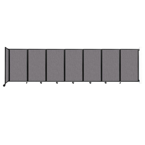 """Wall-Mounted Room Divider 360 Folding Partition 19'6"""" x 5' Slate Fabric"""