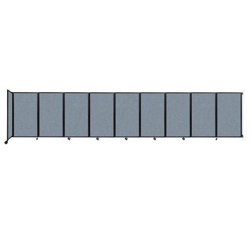 Wall-Mounted Room Divider 360 Folding Partition 25' x 5' Powder Blue Fabric