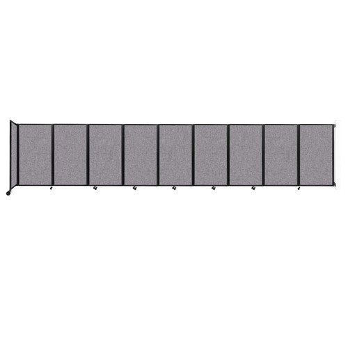 Wall-Mounted Room Divider 360 Folding Partition 25' x 5' Cloud Gray Fabric