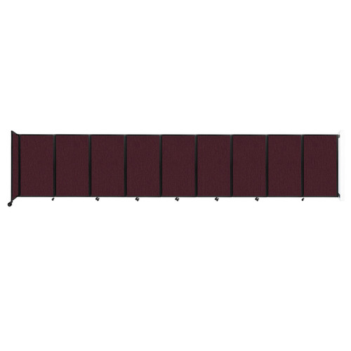 Wall-Mounted Room Divider 360 Folding Partition 25' x 5' Cranberry Fabric