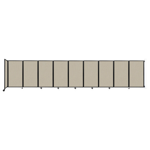 Wall-Mounted Room Divider 360 Folding Partition 25' x 5' Sand Fabric