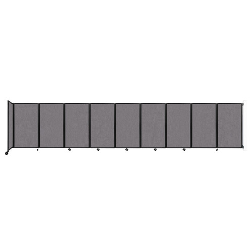 Wall-Mounted Room Divider 360 Folding Partition 25' x 5' Slate Fabric
