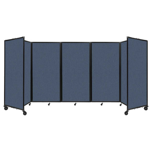 Room Divider 360 Folding Portable Partition 14' x 6' Ocean Fabric