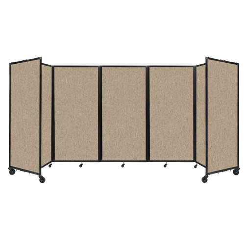 Room Divider 360 Folding Portable Partition 14' x 6' Rye Fabric