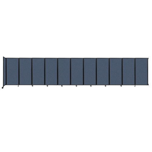 """Wall-Mounted Room Divider 360 Folding Partition 30'6"""" x 6' Ocean Fabric"""