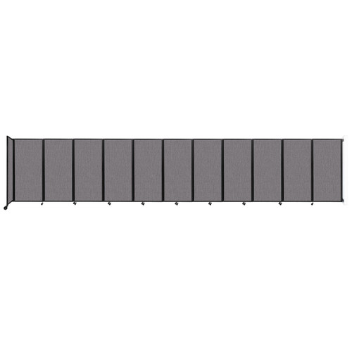 """Wall-Mounted Room Divider 360 Folding Partition 30'6"""" x 6' Slate Fabric"""