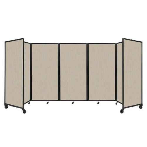 Room Divider 360 Folding Portable Partition 14' x 6' Sand Fabric