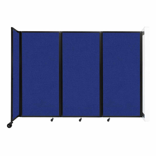 """Wall-Mounted Room Divider 360 Folding Partition 8'6"""" x 6' Royal Blue Fabric"""