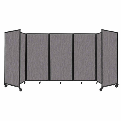 Room Divider 360 Folding Portable Partition 14' x 6' Slate Fabric