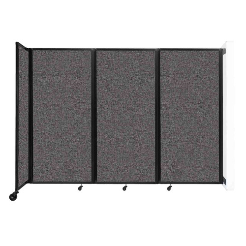 """Wall-Mounted Room Divider 360 Folding Partition 8'6"""" x 6' Charcoal Gray Fabric"""