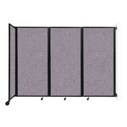 """Wall-Mounted Room Divider 360 Folding Partition 8'6"""" x 6' Cloud Gray Fabric"""