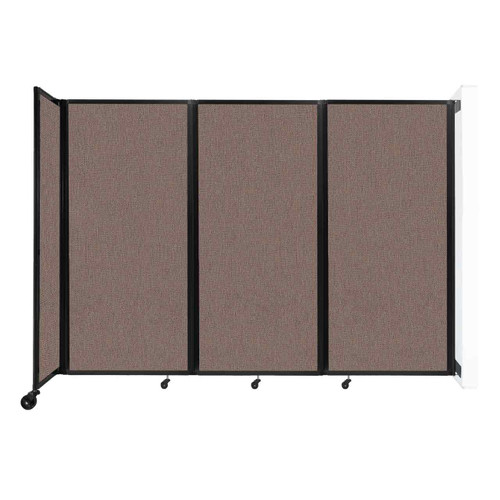 """Wall-Mounted Room Divider 360 Folding Partition 8'6"""" x 6' Latte Fabric"""