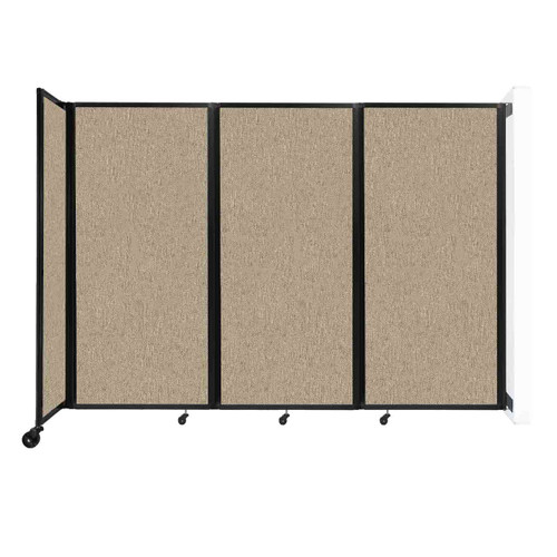 """Wall-Mounted Room Divider 360 Folding Partition 8'6"""" x 6' Rye Fabric"""