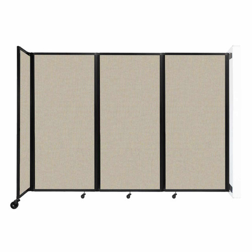 """Wall-Mounted Room Divider 360 Folding Partition 8'6"""" x 6' Sand Fabric"""