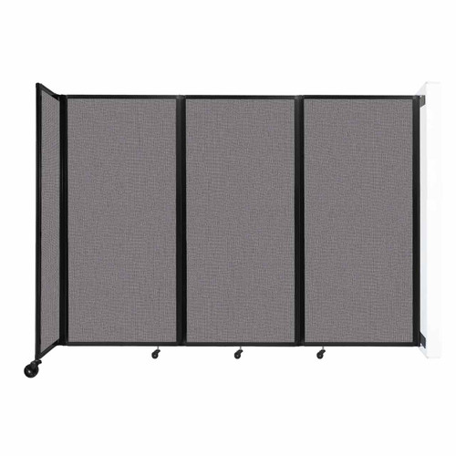 """Wall-Mounted Room Divider 360 Folding Partition 8'6"""" x 6' Slate Fabric"""
