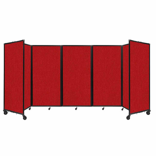 Room Divider 360 Folding Portable Partition 14' x 6' Red Fabric