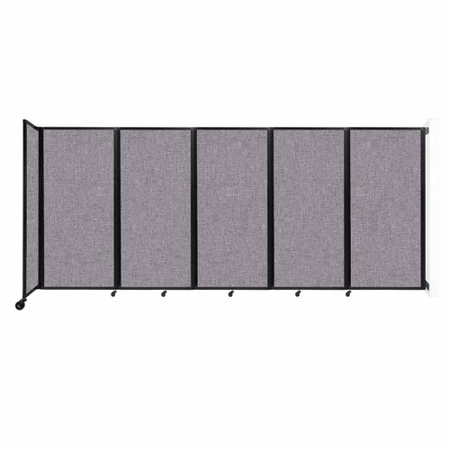 Wall-Mounted Room Divider 360 Folding Partition 14' x 6' Cloud Gray Fabric