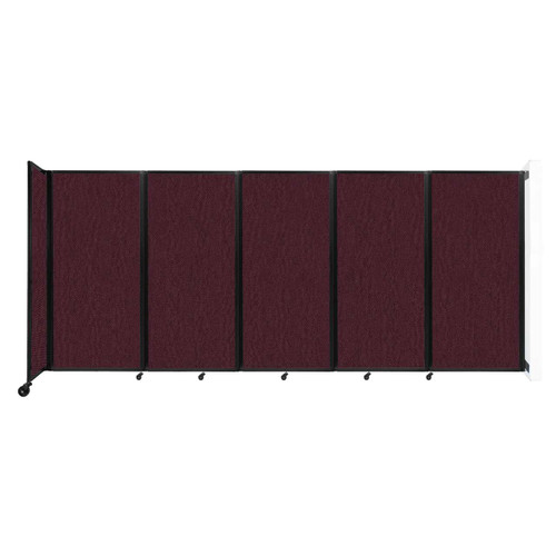 Wall-Mounted Room Divider 360 Folding Partition 14' x 6' Cranberry Fabric