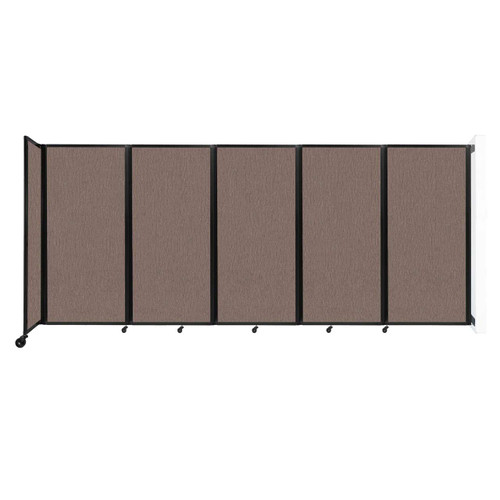 Wall-Mounted Room Divider 360 Folding Partition 14' x 6' Latte Fabric