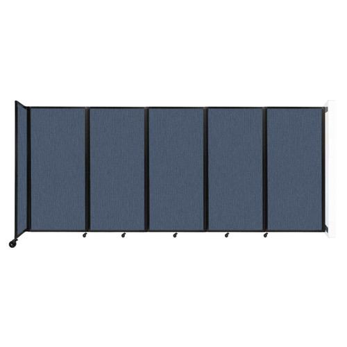 Wall-Mounted Room Divider 360 Folding Partition 14' x 6' Ocean Fabric