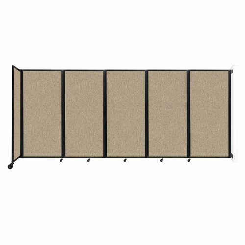 Wall-Mounted Room Divider 360 Folding Partition 14' x 6' Rye Fabric