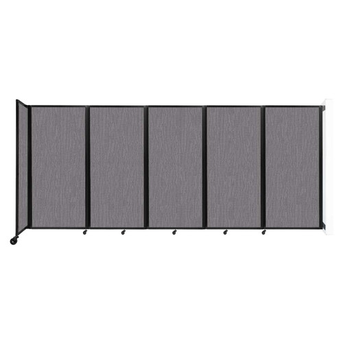 Wall-Mounted Room Divider 360 Folding Partition 14' x 6' Slate Fabric