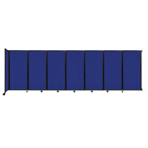 """Wall-Mounted Room Divider 360 Folding Partition 19'6"""" x 6' Royal Blue Fabric"""