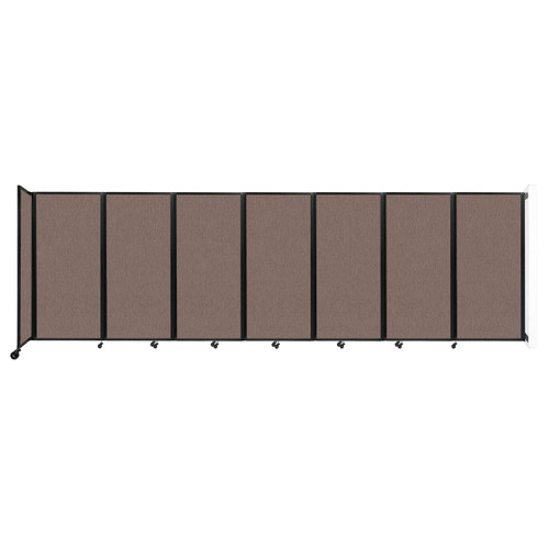 """Wall-Mounted Room Divider 360 Folding Partition 19'6"""" x 6' Latte Fabric"""