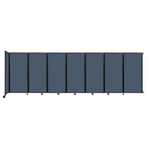 """Wall-Mounted Room Divider 360 Folding Partition 19'6"""" x 6' Ocean Fabric"""